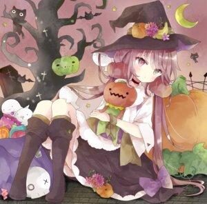 halloween heterochromia neko skirt lift tsukiyo (skymint) witch #89879