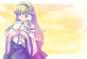 Rating: Safe Score: 4 Tags: japanese_clothes kochiya_sanae miko tdk touhou User: konstargirl