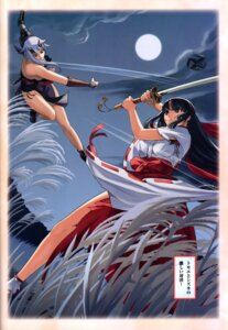 Rating: Questionable Score: 15 Tags: eiwa miko queen's_blade shizuka sword tomoe User: YamatoBomber