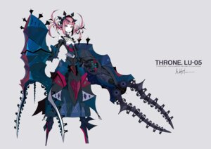 Rating: Safe Score: 35 Tags: armor autographed cleavage dress lu-05 mecha_musume palow throne. weapon User: Radioactive