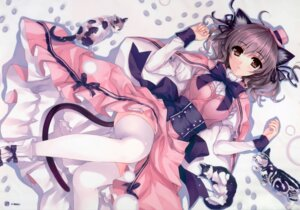 Rating: Safe Score: 224 Tags: animal_ears dress misaki_kurehito neko nekomimi tail thighhighs User: eccdbb