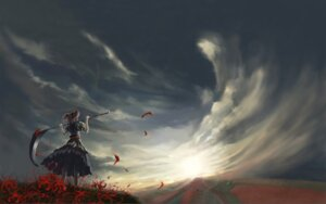 Rating: Safe Score: 29 Tags: kong_xian landscape onozuka_komachi touhou wallpaper User: Radioactive