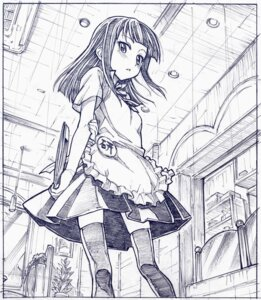 Rating: Safe Score: 23 Tags: monochrome sakino_shingetsu thighhighs waitress working!! yamada_aoi User: Radioactive