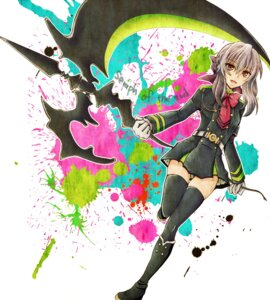 Rating: Safe Score: 20 Tags: hiiragi_shinoa owari_no_seraph seifuku thighhighs weapon ymyr User: charunetra