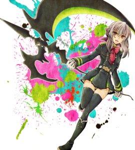 Rating: Safe Score: 19 Tags: hiiragi_shinoa owari_no_seraph seifuku tagme thighhighs weapon User: charunetra
