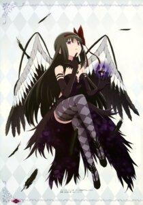 Rating: Questionable Score: 54 Tags: akemi_homura puella_magi_madoka_magica taniguchi_junichirou thighhighs wings User: drop