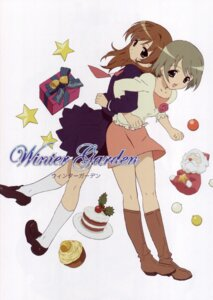 Rating: Safe Score: 9 Tags: christmas dejiko di_gi_charat hasegawa_shinya puchiko seifuku winter_garden User: vita