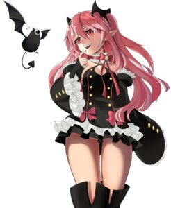 Rating: Questionable Score: 52 Tags: cleavage dress krul_tepes owari_no_seraph pointy_ears tagme thighhighs User: sofronis