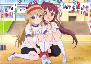 Rating: Questionable Score: 53 Tags: bike_shorts gym_uniform nishimura_rie sugiura_ayano toshinou_kyouko yuru_yuri User: drop