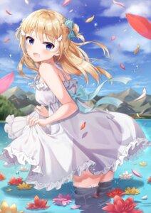 Rating: Safe Score: 86 Tags: dress siooooono skirt_lift summer_dress wet User: BattlequeenYume