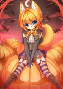 Rating: Safe Score: 43 Tags: animal_ears garter_belt halloween if kitsune stockings tail thighhighs User: Mr_GT