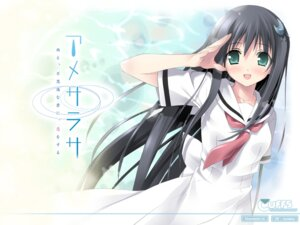 Rating: Safe Score: 35 Tags: amesarasa chiyokawa_rin cuffs kantoku seifuku wallpaper User: fireattack