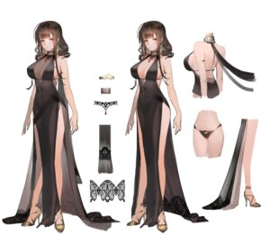 Rating: Questionable Score: 51 Tags: character_design cleavage dress heels liduke no_bra pantsu see_through User: Nepcoheart