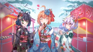 Rating: Safe Score: 12 Tags: animal_ears karyl_(princess_connect) kimono kokkoro nekomimi pecorine princess_connect princess_connect!_re:dive sunum519 tail User: kulipator