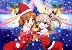 Rating: Questionable Score: 58 Tags: christmas girls_und_panzer nishizumi_miho shimada_arisu yoshida_nobuyoshi User: drop