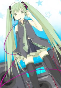 Rating: Safe Score: 9 Tags: hatsune_miku kitsune_no_jinja thighhighs vocaloid User: charunetra