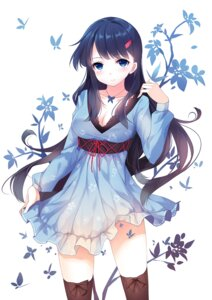 Rating: Safe Score: 69 Tags: caidychen cleavage dress thighhighs User: Radioactive