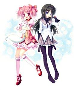 Rating: Safe Score: 37 Tags: akemi_homura futaori_arisa kaname_madoka kyubey pantyhose puella_magi_madoka_magica User: fairyren