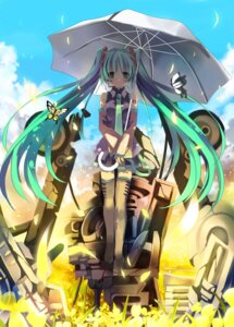 Rating: Safe Score: 25 Tags: hatsune_miku shino_(eefy) thighhighs vocaloid User: fireattack