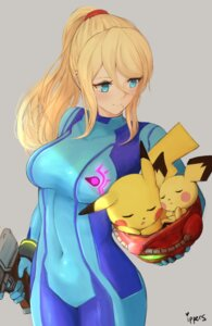 Rating: Safe Score: 25 Tags: bodysuit gun ippers metroid pichu pikachu pokemon samus_aran super_smash_bros. User: mash