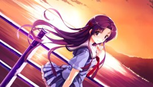 Rating: Safe Score: 44 Tags: abhar deep_blue_sky_&_pure_white_wings game_cg koga_sayoko misaki_kurehito seifuku User: van