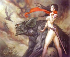 Rating: Questionable Score: 31 Tags: monster naked nipples sword yamashita_shunya User: DLS84