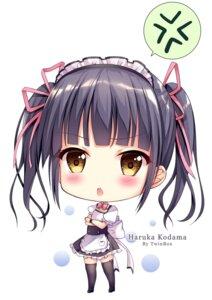 Rating: Safe Score: 10 Tags: chibi heels kodama_haruka maid thighhighs twinbox twinbox_school User: zyll