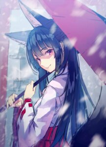 Rating: Safe Score: 55 Tags: animal_ears japanese_clothes kitsune miko tail yasumo User: blooregardo