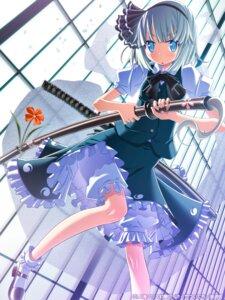 Rating: Safe Score: 25 Tags: heels konpaku_youmu sakuya_tsuitachi sword touhou User: saemonnokami