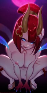 Rating: Explicit Score: 32 Tags: breast_hold evelynn horns league_of_legends naked nipples pussy tattoo tofuubear uncensored User: BattlequeenYume
