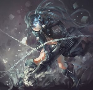 Rating: Safe Score: 34 Tags: avamone bikini_top black_rock_shooter black_rock_shooter_(character) gun open_shirt User: Mr_GT