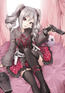 Rating: Safe Score: 38 Tags: gothic_lolita gun hiroki_ree kanzaki_ranko lolita_fashion stockings the_idolm@ster the_idolm@ster_cinderella_girls thighhighs User: Mr_GT