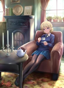 Rating: Safe Score: 43 Tags: darjeeling girls_und_panzer pantyhose seifuku shamakho sweater watermark User: mash