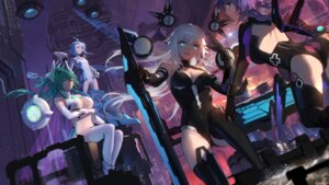 Rating: Safe Score: 66 Tags: ass azur_lane black_heart choujigen_game_neptune cleavage crossover green_heart leotard mecha_musume no_bra purple_heart swd3e2 thighhighs underboob wallpaper white_heart User: Nepcoheart