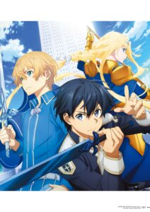 Rating: Safe Score: 17 Tags: alice_schuberg armor eugeo kirito sword sword_art_online sword_art_online_alicization sword_art_online_alicization_lycoris uniform User: kiyoe