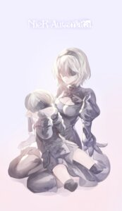 Rating: Safe Score: 15 Tags: black_joa chibi cleavage dress heels nier_automata thighhighs yorha_no.2_type_b yorha_no._9_type_s User: mash