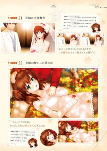 Rating: Safe Score: 11 Tags: digital_version dress gin'iro_haruka koizumi_amane nashiro_momiji tone_work's wedding_dress User: Twinsenzw