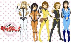 Rating: Safe Score: 34 Tags: akiyama_mio bodysuit cosplay hirasawa_yui iwasan k-on! kotobuki_tsumugi nakano_azusa tainaka_ritsu uchuu_senkan_yamato uchuu_senkan_yamato_2199 User: Radioactive