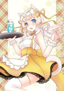 Rating: Safe Score: 31 Tags: animal_ears cleavage kuroki_masahiro maid moe2015 nekomimi tail thighhighs User: KazukiNanako