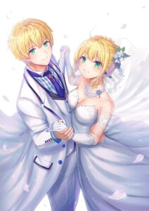 Rating: Safe Score: 21 Tags: cleavage dress fate/grand_order saber saber_(fate/prototype) seungju_lee User: RyuZU