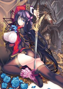 Rating: Questionable Score: 64 Tags: ass burgund_haneiyuutan coffee_cat erect_nipples heels monster nopan sword thighhighs User: kiyoe