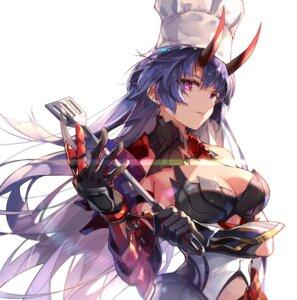 Rating: Questionable Score: 19 Tags: armor benghuai_xueyuan honkai_impact horns no_bra raiden_mei zombie-andy User: Dreista
