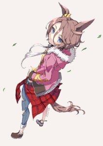 Rating: Safe Score: 12 Tags: animal_ears gin_(oyoyo) narita_taishin_(umamusume) tail torn_clothes uma_musume_pretty_derby User: Dreista