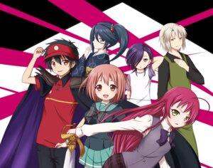 Rating: Safe Score: 13 Tags: ashiya_shirou hataraku_maou-sama! kamazuki_suzuno kimono kuena maou_sadao sasaki_chiho seifuku sword urushihara_hanzou yusa_emi User: dyj