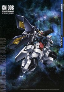Rating: Safe Score: 11 Tags: arisawa_hiroshi gundam gundam_00 mecha seravee_gundam User: Radioactive