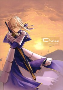 Rating: Safe Score: 7 Tags: fate/stay_night saber shingo sword User: ttfn