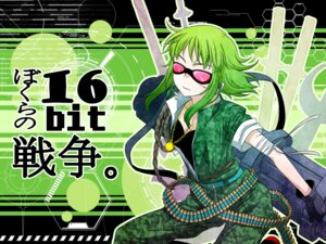 Rating: Safe Score: 10 Tags: azrain bokura_no_16bit_warz_(vocaloid) gumi vocaloid wallpaper User: charunetra