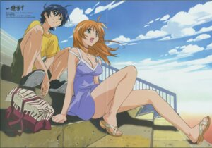 Rating: Safe Score: 6 Tags: bra cleavage crease dress hasegawa_shinya ikkitousen shuyu_kokin sonsaku_hakufu summer_dress User: ttfn