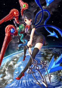 Rating: Safe Score: 20 Tags: dress dtvisu heels houjuu_nue thighhighs touhou weapon wings User: Mr_GT