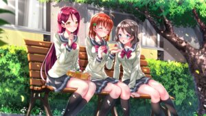 Rating: Safe Score: 30 Tags: love_live!_sunshine!! sakurauchi_riko seifuku swordsouls takami_chika wallpaper watanabe_you User: Mr_GT